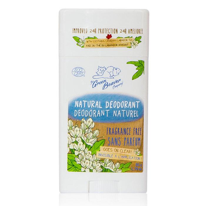 Deodorant Stick - Fragrance Free, 1.76 oz, Green Beaver