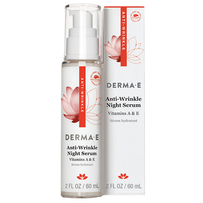 Derma E Anti-Wrinkle Night Serum with Vitamin A & E, 2 oz