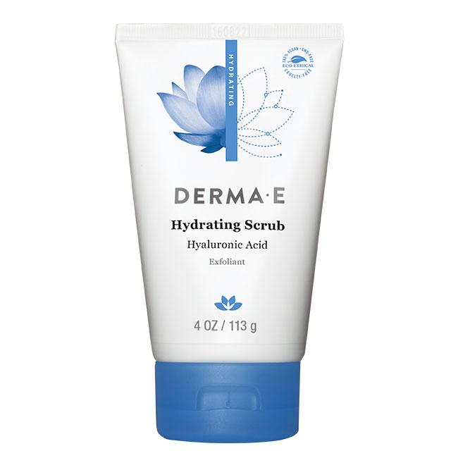 Derma E Hydrating Scrub with Hyaluronic Acid, Facial Exfoliant, 4 oz