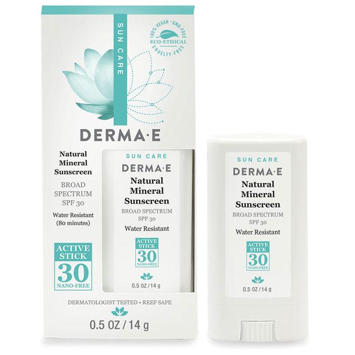 Image of Derma E Natural Mineral Sunscreen SPF 30 Active Stick, 0.5 oz
