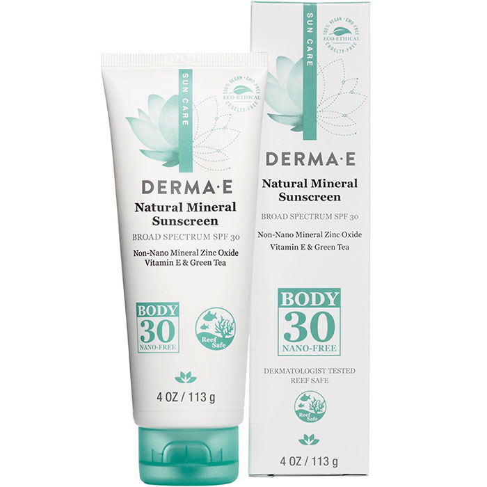 Image of Derma E Natural Mineral Sunscreen SPF 30 Body Lotion, 4 oz