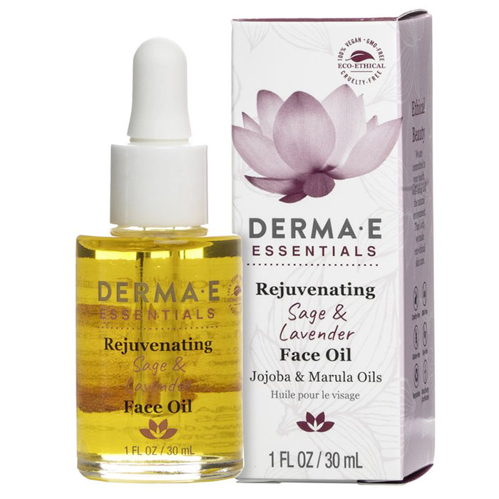 Derma E Rejuvenating Sage & Lavender Face Oil, 1 oz