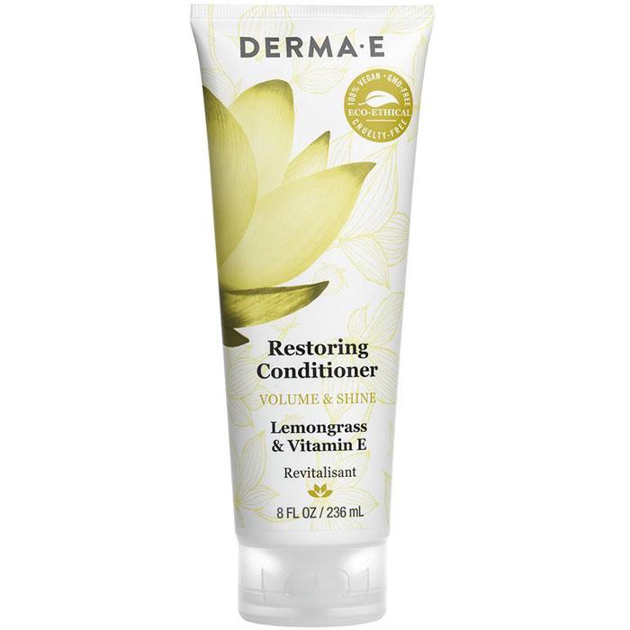 Derma E Restoring Conditioner, Silicone Free, Volume & Shine, 8 oz
