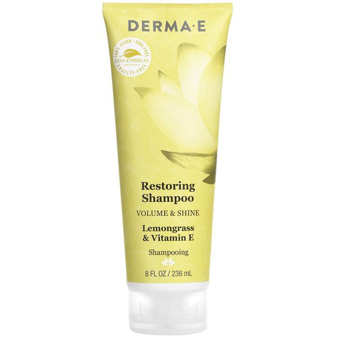 Derma E Restoring Shampoo, Silicone Free, Volume & Shine, 8 oz