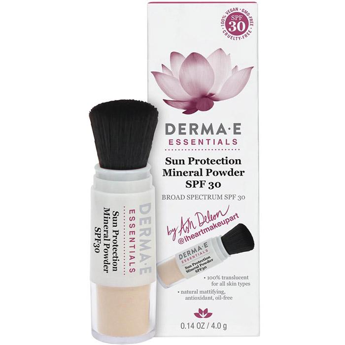Derma E Sun Protection Mineral Powder SPF-30 by Ash Deleon, 0.14 oz
