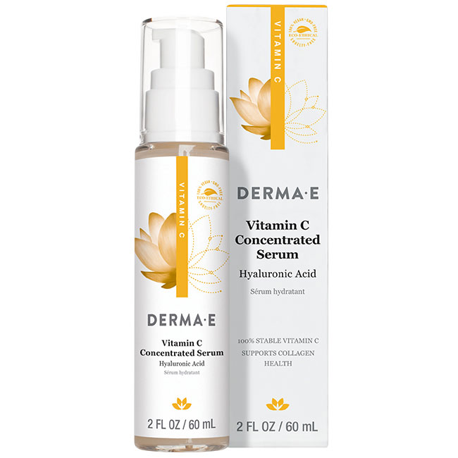 Derma E Vitamin C Concentrated Serum with Hyaluronic Acid, 2 oz