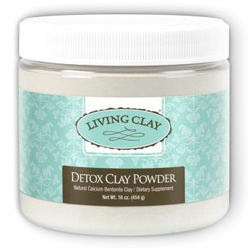Detox Clay Powder, Natural Calcium Bentonite Clay, 16 oz, Living Clay
