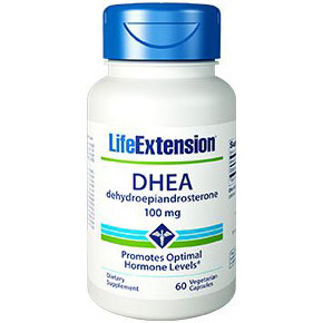 Image of DHEA 100 mg, 60 Vegetarian Capsules, Life Extension
