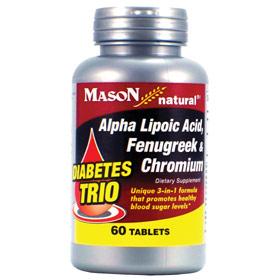 Diabetes Trio (Alpha Lipoic Acid, Fenugreek & Chromium), 60 Tablets, Mason Natural