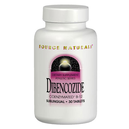Dibencozide Vitamin B12 (Vitamin B-12) Coenzymated Sublingual 60 tabs from Source Naturals