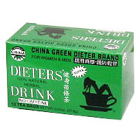 China Green Dieter Brand, Dieter's Drink for Weight Loss, 12 Tea Bags, Uncle Lee's Tea