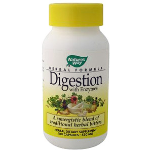 Digestion (Herbal Bitters with Enzymes) 100 caps from Natures Way