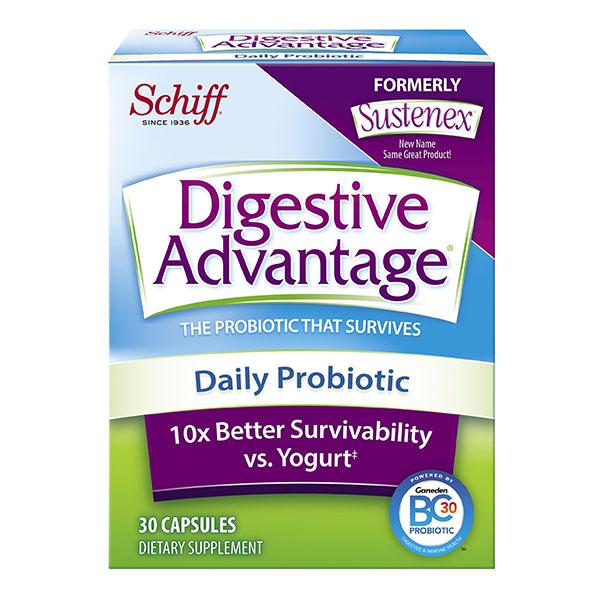 Digestive Advantage Daily Probiotic, 30 Capsules, Schiff