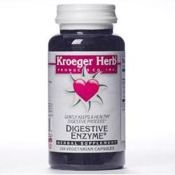 Digestive Enzyme, 100 Vegetarian Capsules, Kroeger Herb