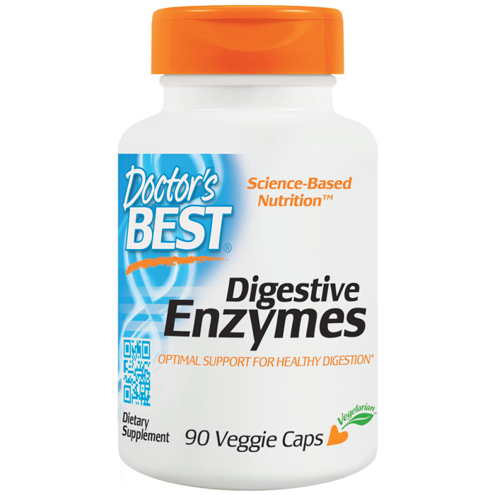 Digestive Enzymes, Optimal Support For Healthy Digestion, 90 Veggie Caps, Doctors Best