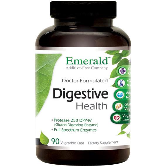Digestive Health, 90 Vegetable Capsules, Emerald Labs