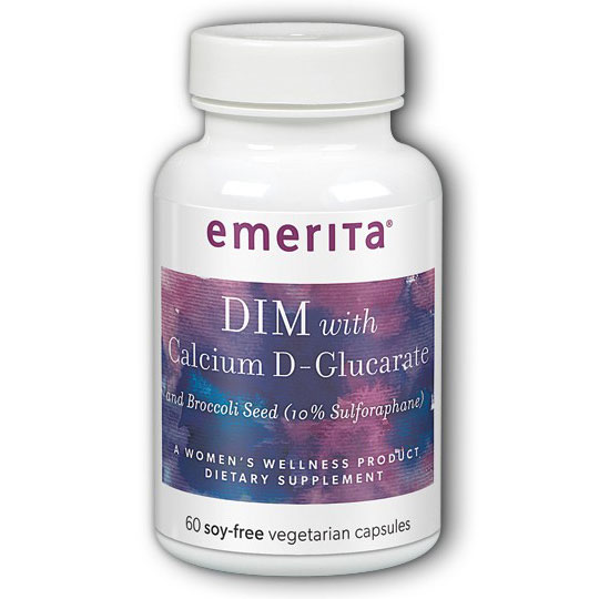 DIM Formula with Calcium D-Glucarate, 60 Capsules, Emerita