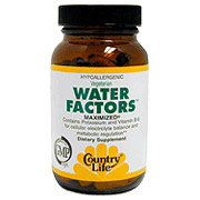Water Factors Diuretic Maximized 60 Tablets, Country Life