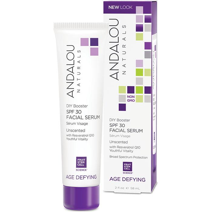 DIY Booster SPF 30 Facial Serum Unscented, 2 oz, Andalou Naturals