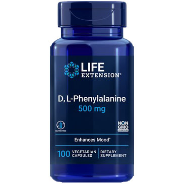 D,L-Phenylalanine 500 mg, 100 Capsules, Life Extension