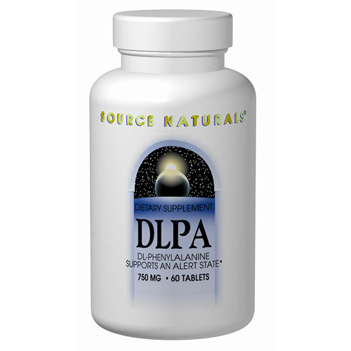 DLPA (DL-Phenylalanine) 750mg 30 tabs from Source Naturals