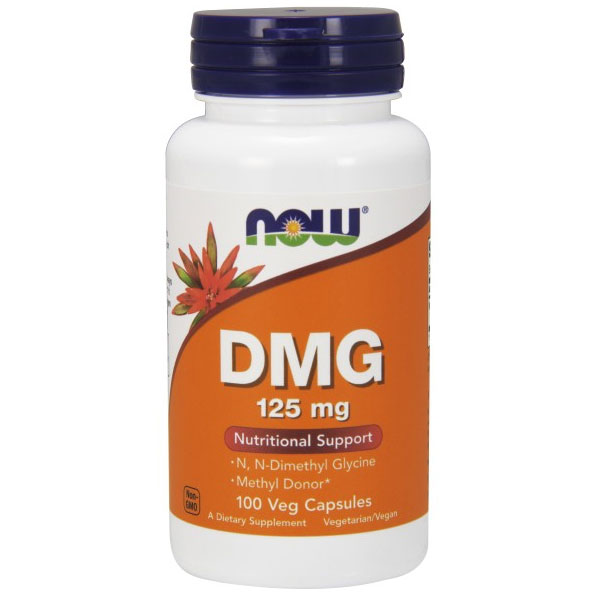 DMG Dimethylglycine 125mg 100 Caps, NOW Foods