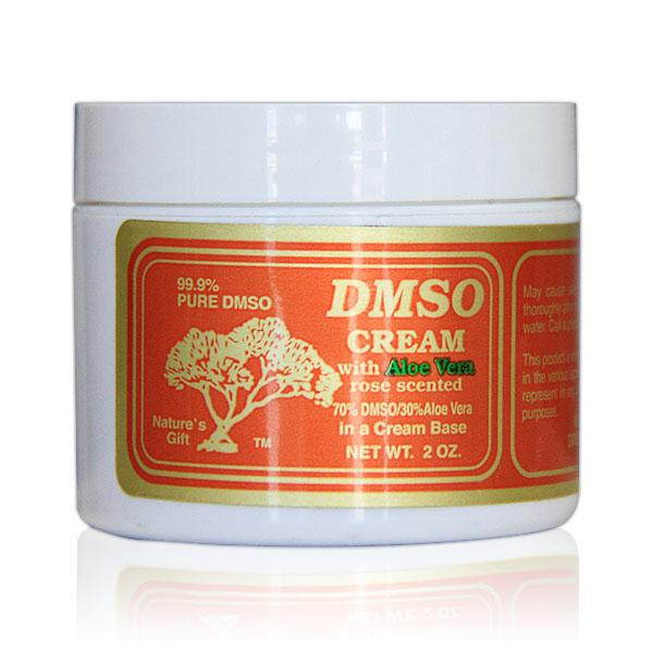Image of DMSO Cream with Aloe Vera, Rose Scented, 70% Dmso / 30% Aloe Vera, Plastic Bottle, 2 oz