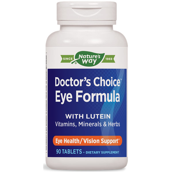 Doctors Choice Eye Formula with Lutein, 90 Tablets, Enzymatic Therapy