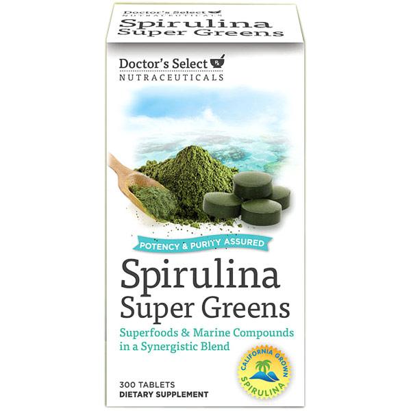 Doctors Select Spirulina Super Greens, 300 Tablets