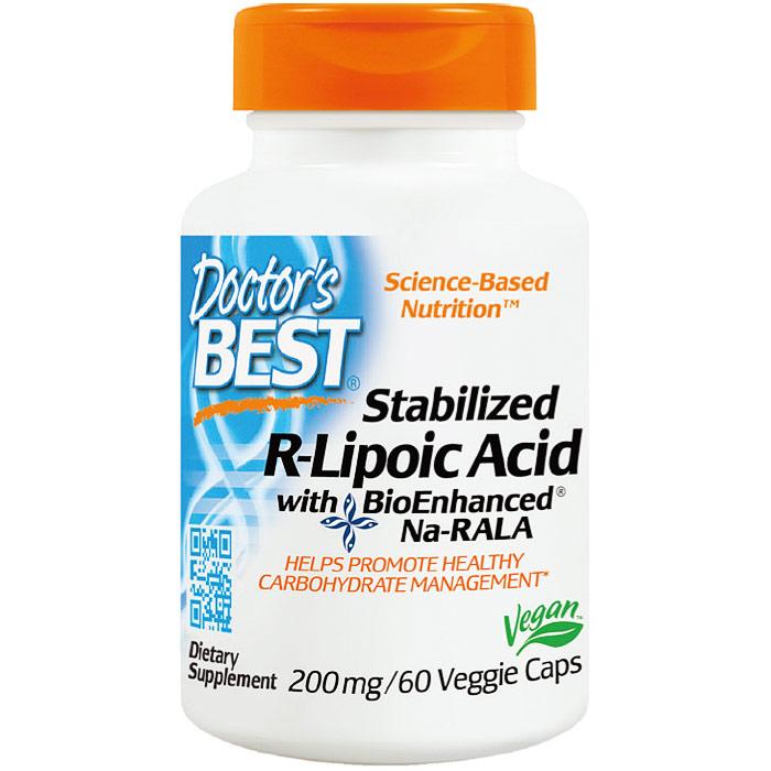Stabilized R-Lipoic Acid 200 mg, 60 Vegetarian Capsules, Doctors Best