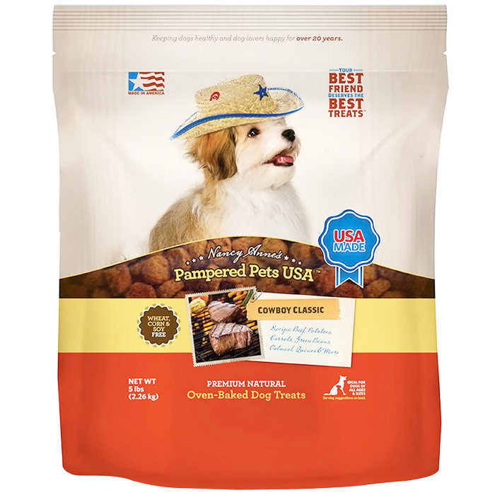 Image of Dog Treats, Cowboy Classic Dog Cookies, Made in the USA, 5 lb x 2 Pack, Pampered Pets USA
