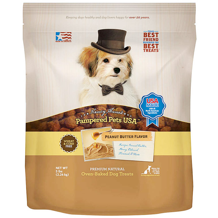 Image of Dog Treats, Peanut Butter & Honey Dog Cookies, 5 lb x 2 Pack, Pampered Pets USA