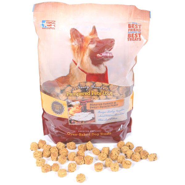 Image of Dog Treats, Roasted Turkey & Sweet Potato Feast with Pumpkin & Cranberries Dog Cookies, 5 lb, Pampered Pets USA