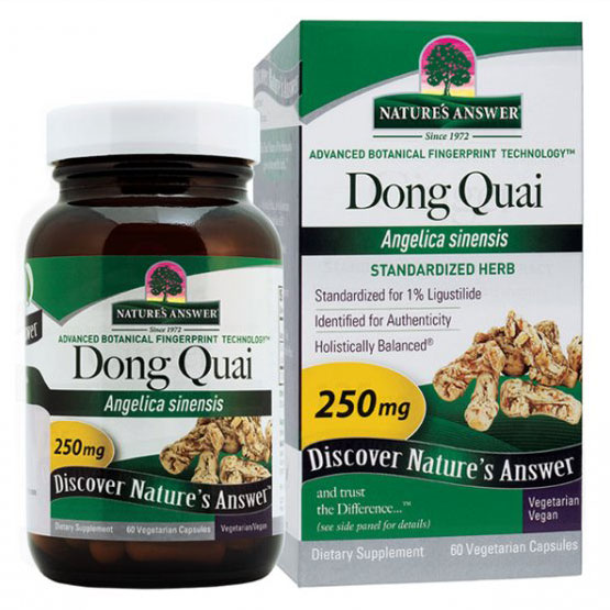 Dong Quai Root Extract Standardized 60 vegicaps from Nature's Answer