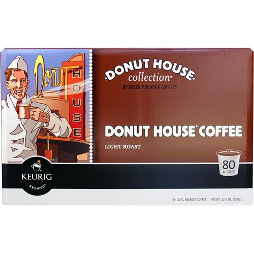 Donut House Coffee Light Roast, K-Cups for Keurig Brewers, 80 K-Cup Portion Packs, Green Mountain Coffee