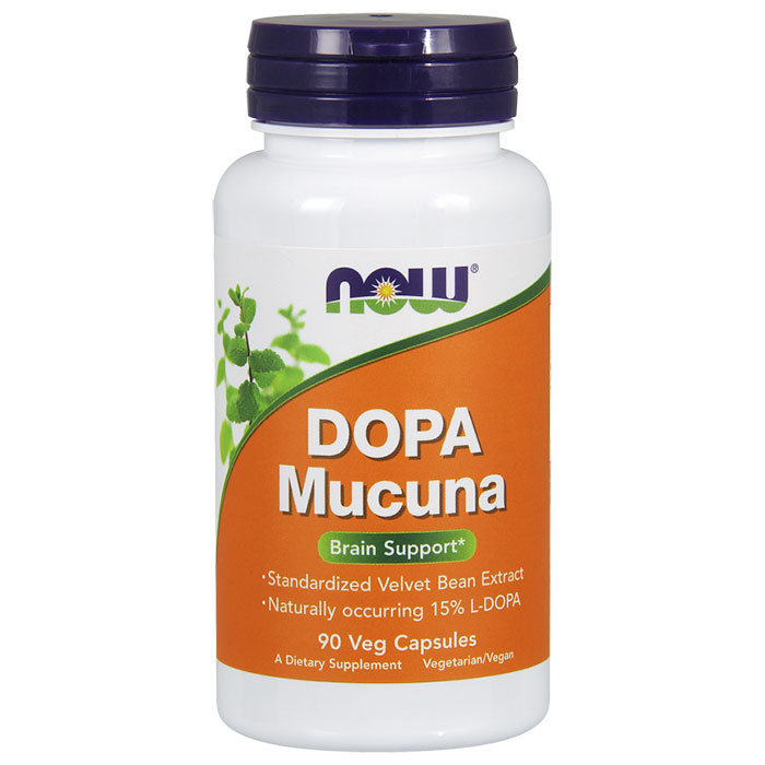 Dopa Mucuna 15% 400 mg, 90 Vcaps, NOW Foods