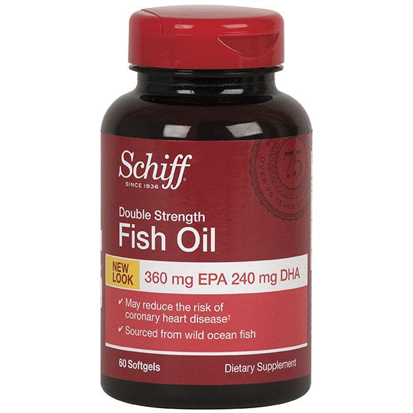Double Strength Fish Oil, EPA 360 / DHA 240, 60 Softgels, Schiff