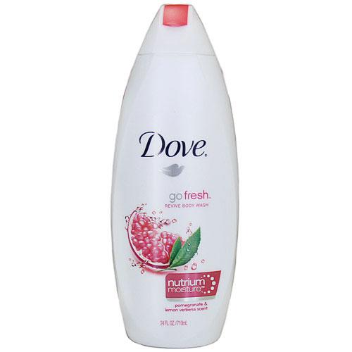 Dove Go Fresh Revive Body Wash, Pomegranate & Lemon Verbena Scent, 24 oz (710 ml)