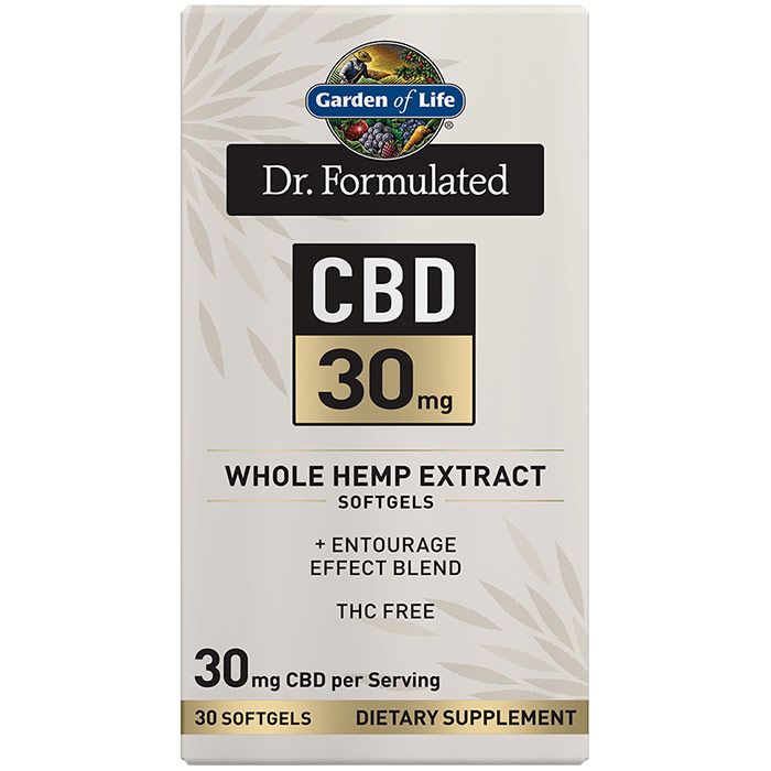 Dr. Formulated CBD 30 mg Whole Hemp Extract Softgels, 30 Softgels, Garden of Life