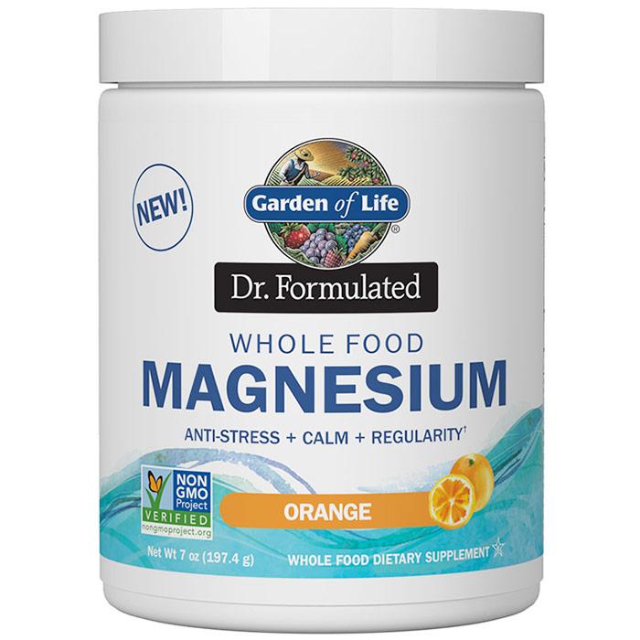 Image of Dr. Formulated Whole Food Magnesium Powder, Orange, 7 oz (197.4 g), Garden of Life