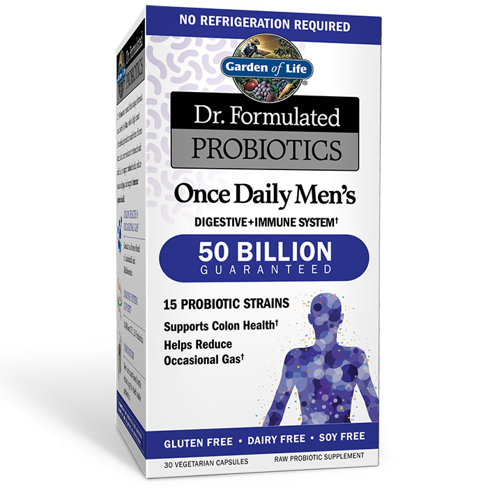 Dr. Formulated Probiotics Once Daily Mens, Shelf Stable, 30 Vegetarian Capsules, Garden of Life