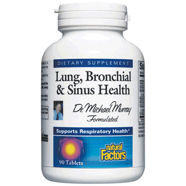 Dr. Murrays Lung, Bronchial & Sinus 90 Tablets, Natural Factors