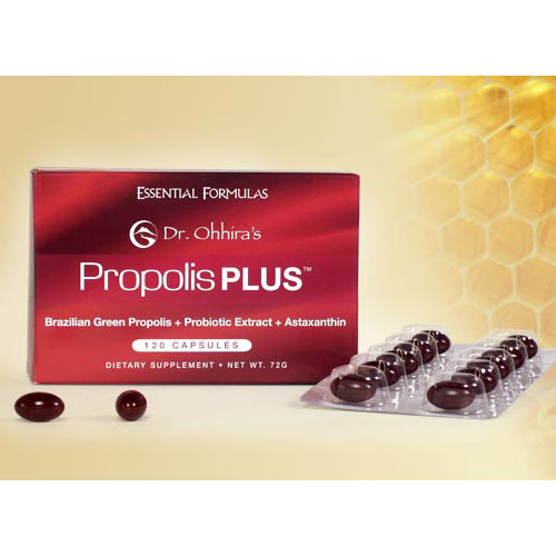 Dr. Ohhiras Propolis PLUS, Brazilian Green Propolis, 60 Capsules, Essential Formulas