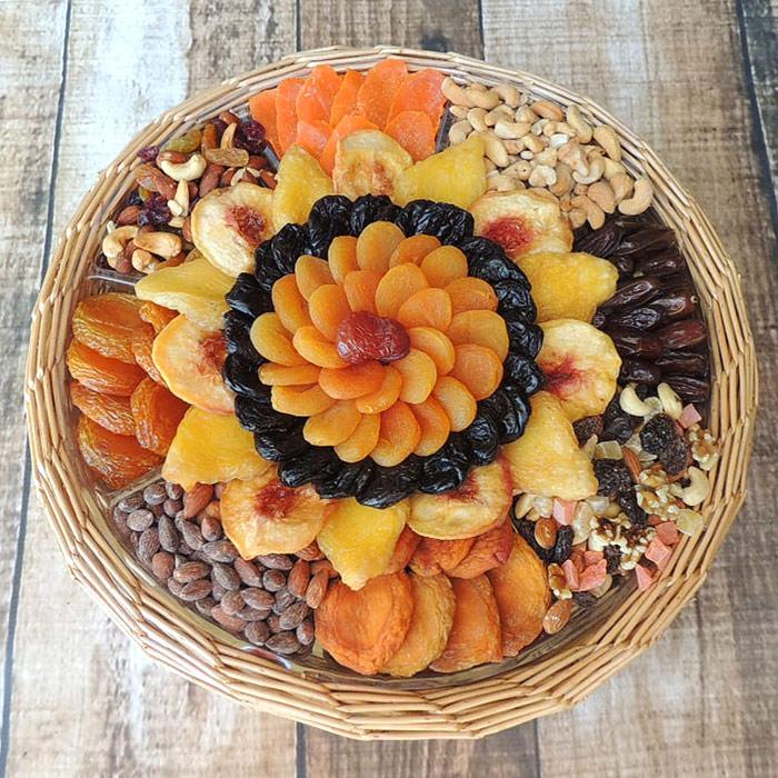 Dried Fruit & Nut Gift Basket, Value Size, 103 oz, Vacaville Fruit Company