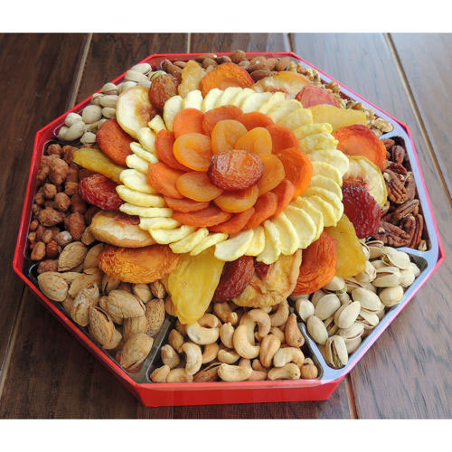 Dried Fruit & Nut Holiday Gift Box, 64 oz, Vacaville Fruit Company
