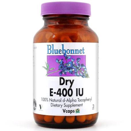 Dry E-400 IU, 100 Vcaps, Bluebonnet Nutrition