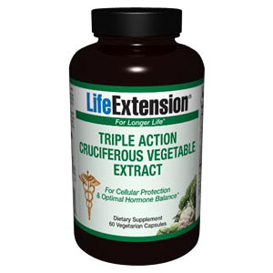 Triple Action Cruciferous Vegetable Extract, 60 Vegetarian Capsules, Life Extension