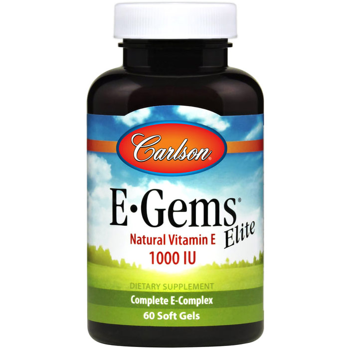 E-Gems Elite 1000 IU, 60 Softgels, Carlson Labs