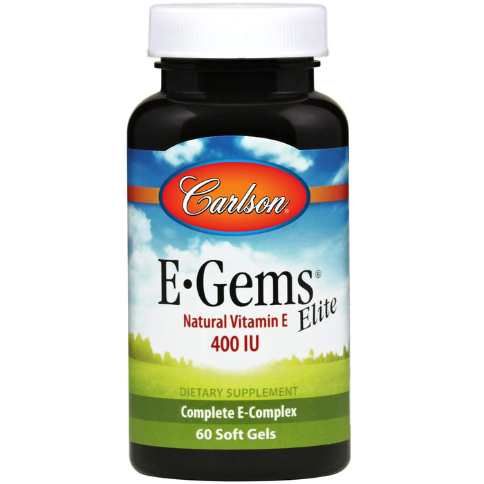 E-Gems Elite 400 IU, Natural Vitamin E, 60 softgels, Carlson Labs