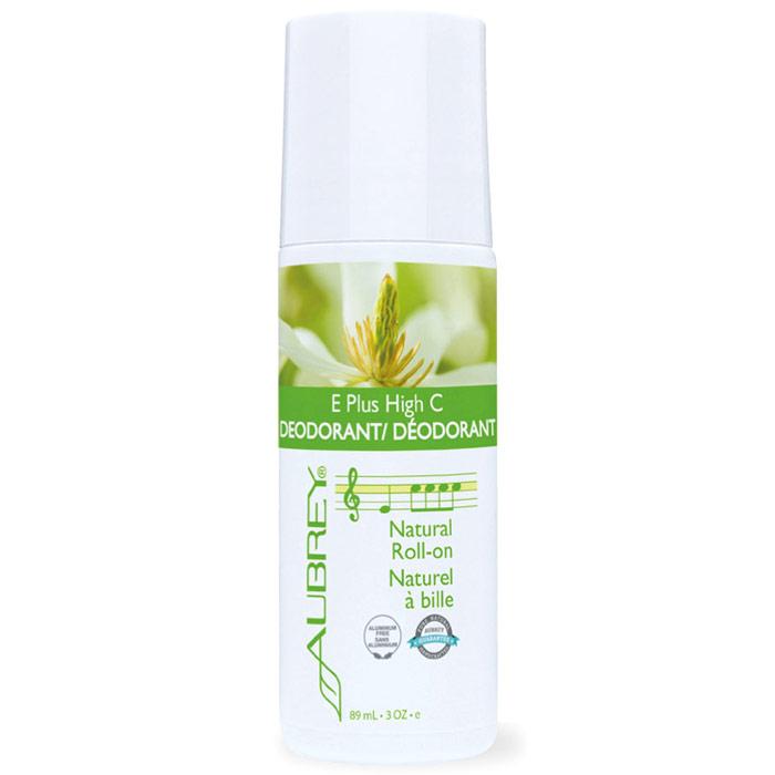 E Plus High C, Natural Vitamin E Roll-On Deodorant - Classic Scent, 3 oz, Aubrey Organics